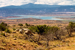 Abiquiu Lake reservoir, New Mexico Royalty Free Stock Photo