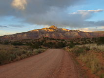 Abiquiu, New Mexico. Sunset in the mountains new Abiquiu, New Mexico Royalty Free Stock Images
