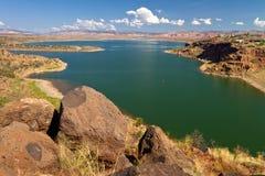 Abiquiu Lakebehållare, New Mexico Royaltyfri Fotografi