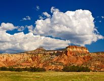 Abiquiu New Mexico landscape and clouds royalty free stock photos