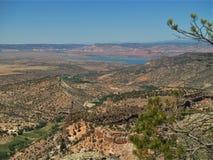 Abiquiu sjö från Santa Fe National Forest Royaltyfria Foton