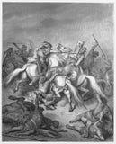 Abishai sparar Davids liv Royaltyfria Foton