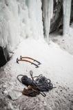 abisko που αναρριχείται στο εθνικό πάρκο Σουηδία πάγου εξοπλισμού lappland Στοκ φωτογραφία με δικαίωμα ελεύθερης χρήσης