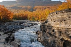 Abisko Canyon Royalty Free Stock Photos