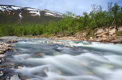 Abisko canyon Royalty Free Stock Photo