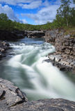 Abisko canyon Stock Photography