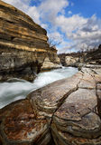 Abisko canyon. In Sweden  with the river through the canyon Stock Photography