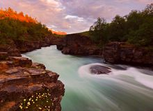 Abisko national park Stock Image