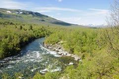 Abisko nationalpark, Sverige, Europa Fotografering för Bildbyråer