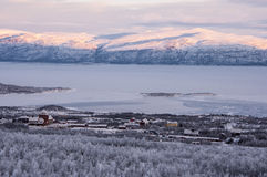 Abisko village in in Lapland Royalty Free Stock Image