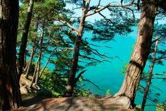 Abismo azul Foto de archivo