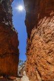 Abismo de Standley (Angkerle) situado al oeste de Alice Springs en el Territorio del Norte, Australia Fotografía de archivo libre de regalías