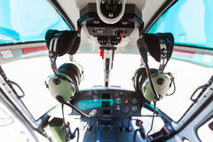 Abitacolo dell'elicottero Immagine Stock