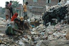 Abitanti di bassifondi dell'Kolkata-India Fotografie Stock
