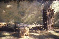 Abitazione antica, villaggio nella nazione cherokee, APPROVAZIONE di Tasalagi Immagini Stock Libere da Diritti