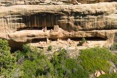 Abitazione di scogliera al tempio del fuoco, Mesa Verde National Park Fotografia Stock Libera da Diritti