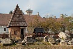Abitazione tradizionale nel museo di Alba Iulia Immagini Stock Libere da Diritti