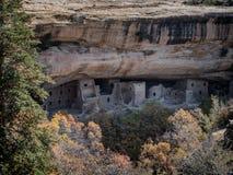 Abitazioni di Mesa Verde in Colorado Fotografia Stock
