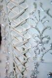 Abito di nozze posteriore del corsetto Fotografia Stock