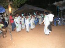 Abitudine africana di akan in paese Fotografie Stock