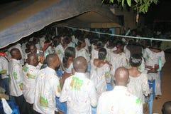 Abitudine africana di akan in paese Fotografia Stock