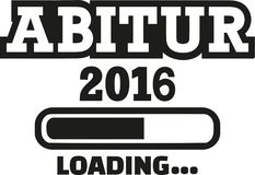 Abitur Loading 2016. Vector icon Royalty Free Stock Image