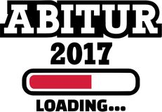 Abitur 2017 Loading. Graduation high school. Vector Royalty Free Stock Images