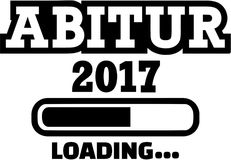Abitur 2017 Loading. Vector icon royalty free illustration