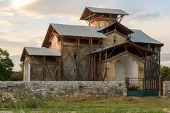 Abjasia El templo del Dormition del Theotokos en el VI Imágenes de archivo libres de regalías