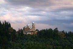 Abjasia, nuevo Aphon monasterio Foto de archivo libre de regalías