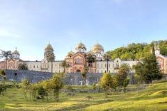 Abjasia Nuevo Athos Simon el monasterio fanático Foto de archivo