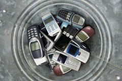 Abjected cellphones stock fotografie