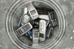 abjected mobiltelefoner Arkivfoto