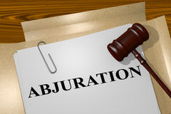 ABJURATION - legal concept Stock Photography