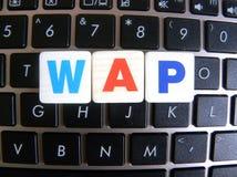 Abkürzung WAP auf Tastaturhintergrund Stockfoto
