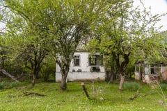 abkhazia разрушил дом Стоковое Изображение RF