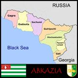Abkhazia Administrative divisions Royalty Free Stock Photography