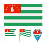 Abkhazia,country flag  Royalty Free Stock Photo