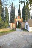 Abkhazia. Entrance in New Athos Simon the Zealot Monastery Royalty Free Stock Image