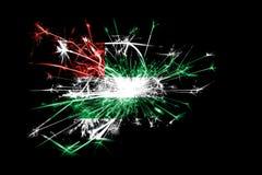 Abkhazia fireworks sparkling flag. New Year 2019 and Christmas party concept. Abkhazia fireworks sparkling flag. New Year 2019 and Christmas party concept royalty free illustration