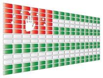 Abkhazia flag. Vector illustration of the flag of Abkhazia royalty free illustration