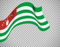 Abkhazia flag on transparent background. Abkhazia flag icon on transparent background. Vector illustration Stock Photography