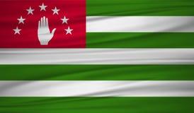 Abkhazia flag vector. Vector Abkhazia flag blowig in the wind. EPS 10 Royalty Free Stock Photos