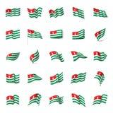 Abkhazia flag, vector illustration. On a white background Stock Photo