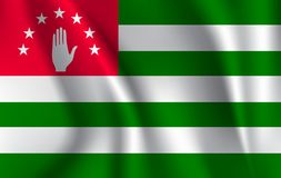 Abkhazia flag. Abkhazia Flag vector illustration. Abkhazia flag background with cloth texture. abkhazia Flag vector illustration vector illustration