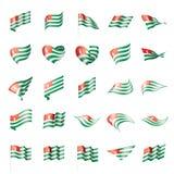 Abkhazia flag, vector illustration. On a white background Stock Photos