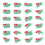 Abkhazia flag, vector illustration. On a white background Stock Photography