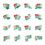 Abkhazia flag, vector illustration on a white background. Abkhazia flag, vector illustration on a white background Stock Illustration