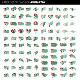 Abkhazia flag, vector illustration. On a white background. Big set Stock Image