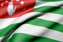 Abkhazia flag waving. 3d rendering of Abkhazia flag waving Vector Illustration